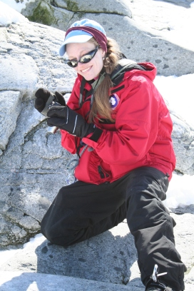 Occasional penguin counter and polar logistics extraordinaire Melissa Rider
